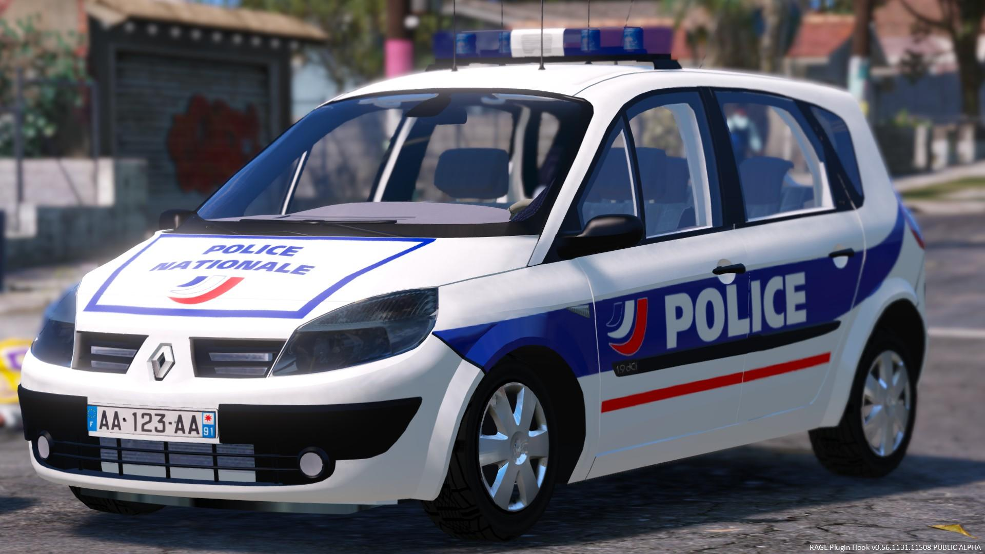 renault scenic ii police nationale els gta5. Black Bedroom Furniture Sets. Home Design Ideas