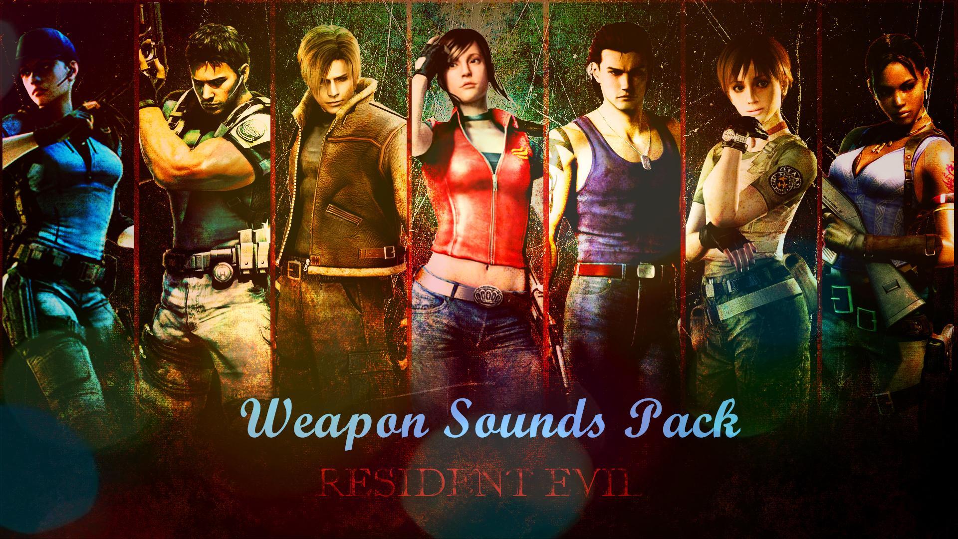 Wallpaper Gun Video Games Black Background Resident: Resident Evil Series Weapon Sounds Pack