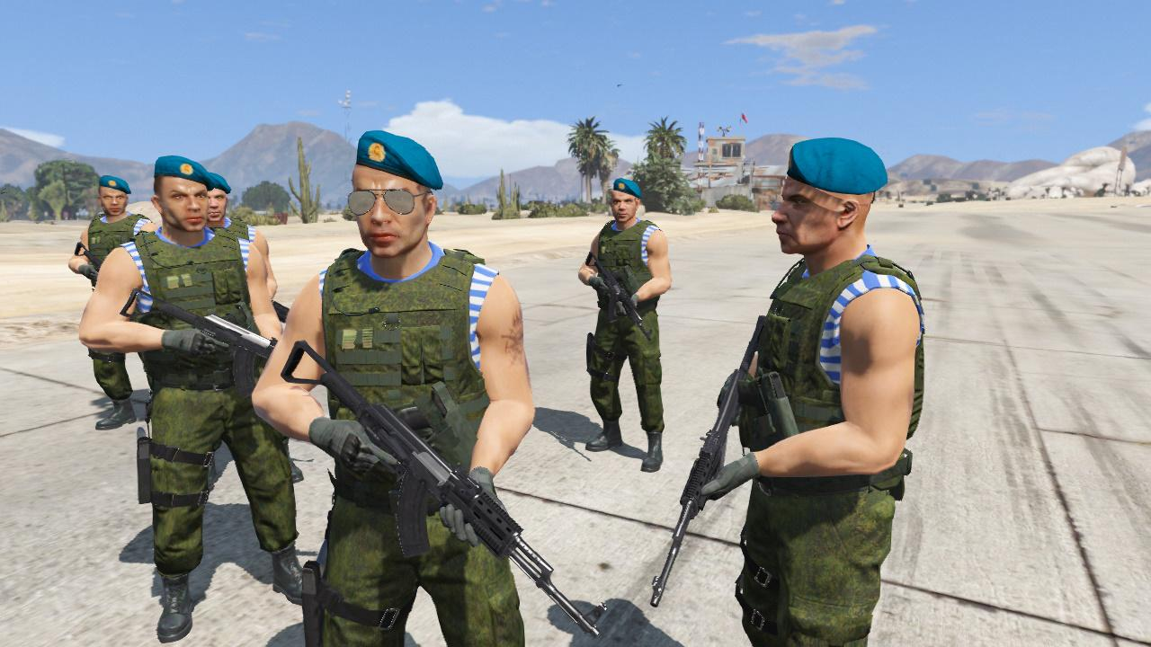 Russian airborne troops gta5 for The russian mod