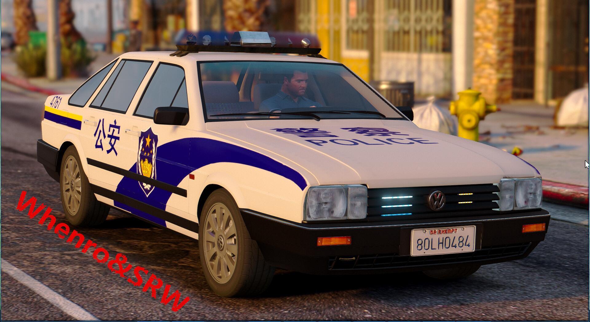 Volkswagen Santana Chinese Police Car - GTA5-Mods.com