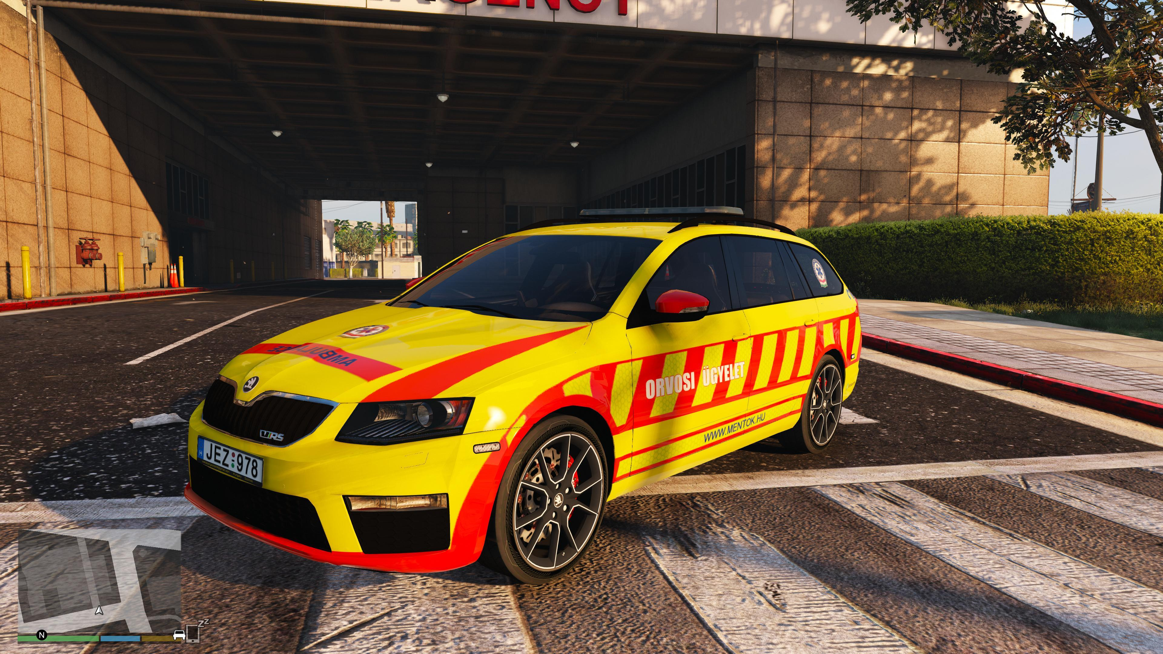koda octavia vrs hungarian ambulance gta5. Black Bedroom Furniture Sets. Home Design Ideas