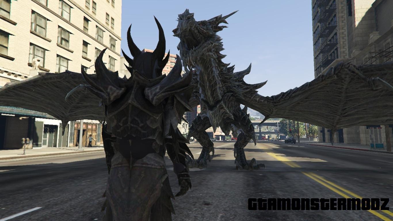 Skyrim Alduin Dragon Gta5 Mods Com