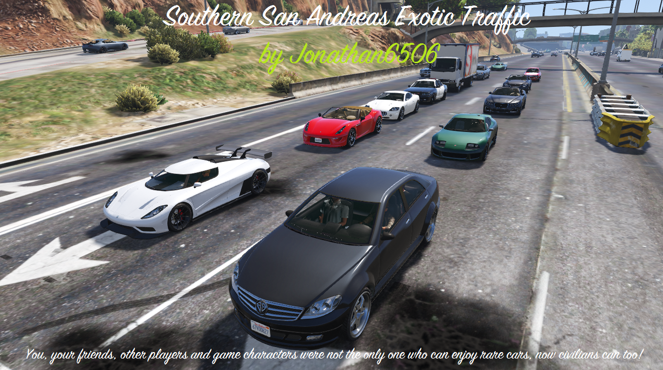 Southern San Andreas Exotic Traffic - GTA5-Mods com