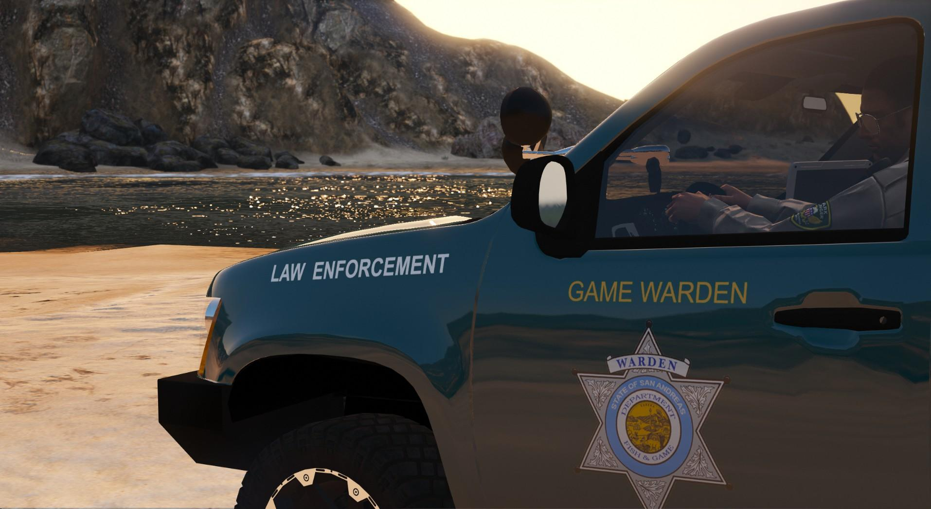 state of san andreas game warden skin pack  8 vehicles
