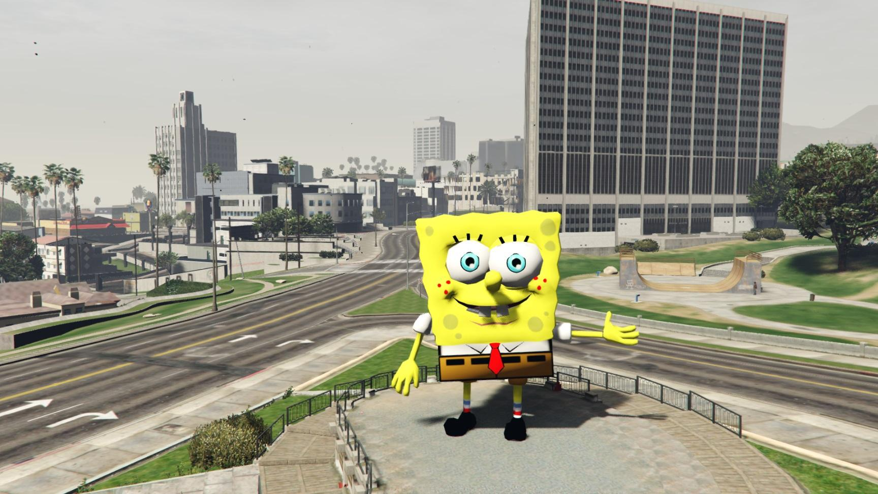 hd spongebob statue gta5. Black Bedroom Furniture Sets. Home Design Ideas