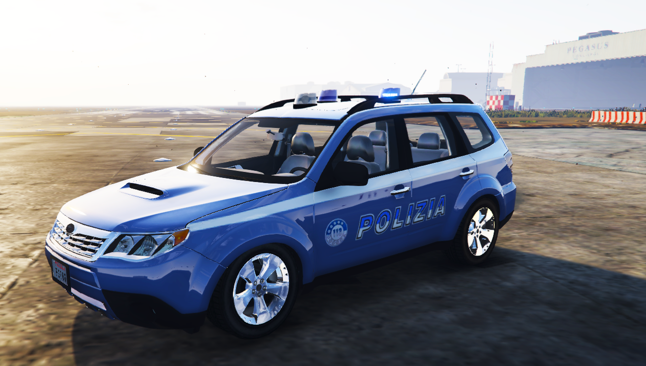 Subaru forester polizia els gta5 for Subaru forester paint job cost