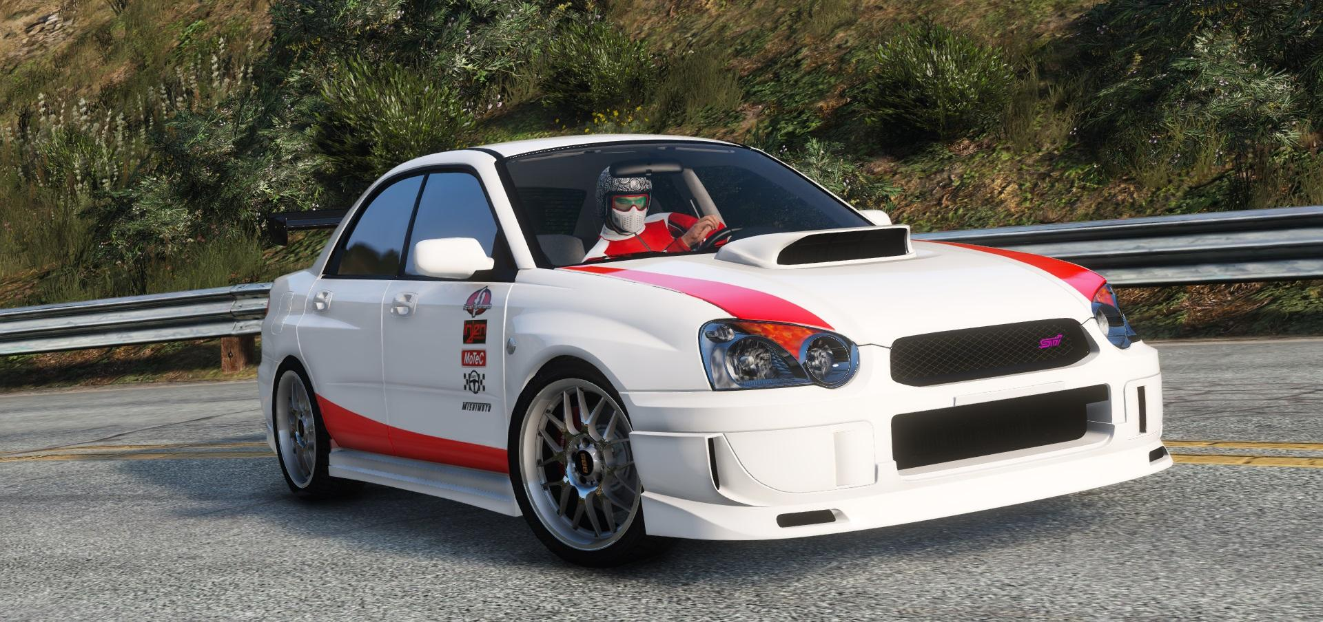subaru impreza wrx sti 2004 39 born to race 39 livery gta5. Black Bedroom Furniture Sets. Home Design Ideas