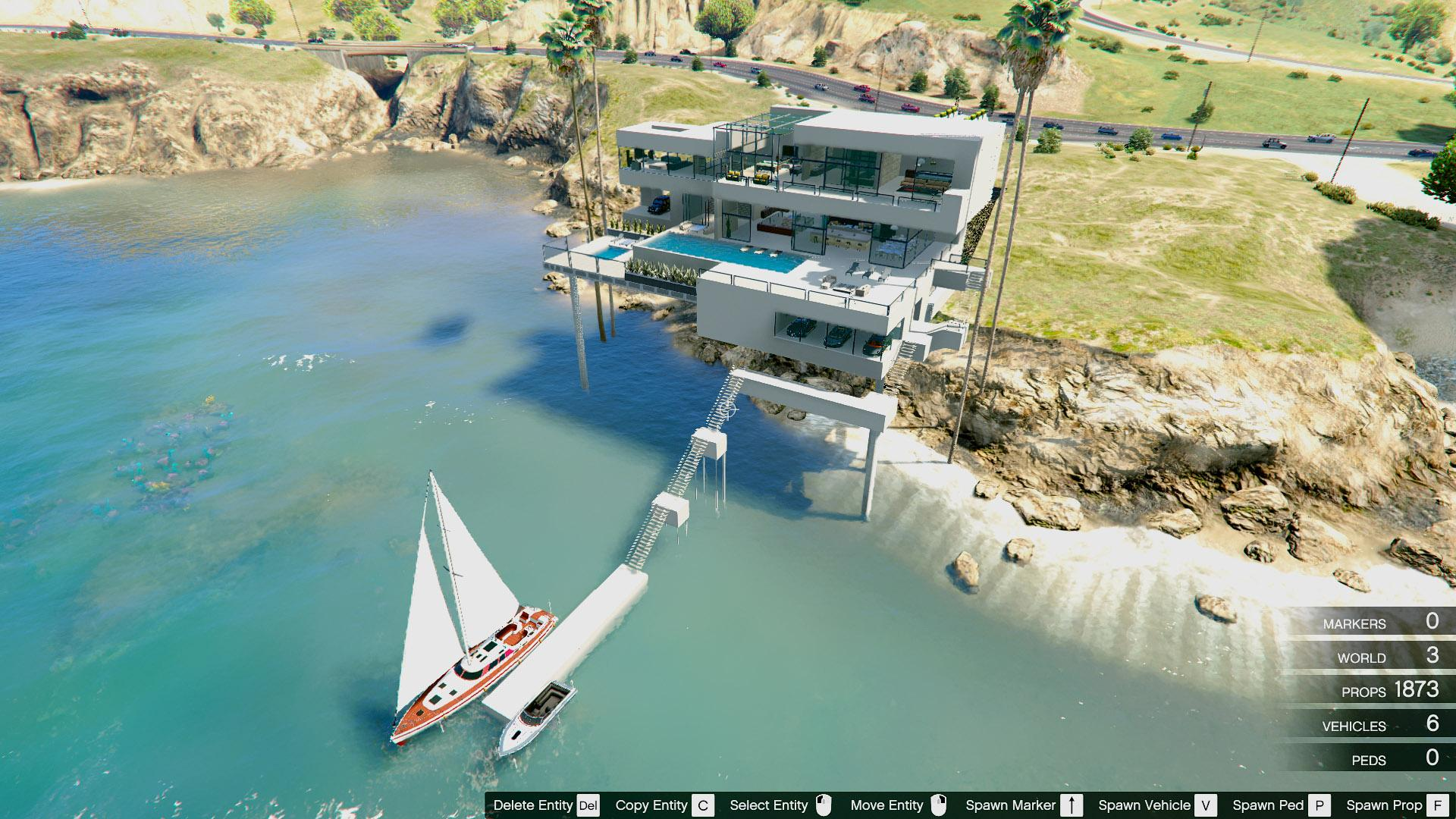Sunset coast mansion pools garage yacht gta5 for A acheter maison