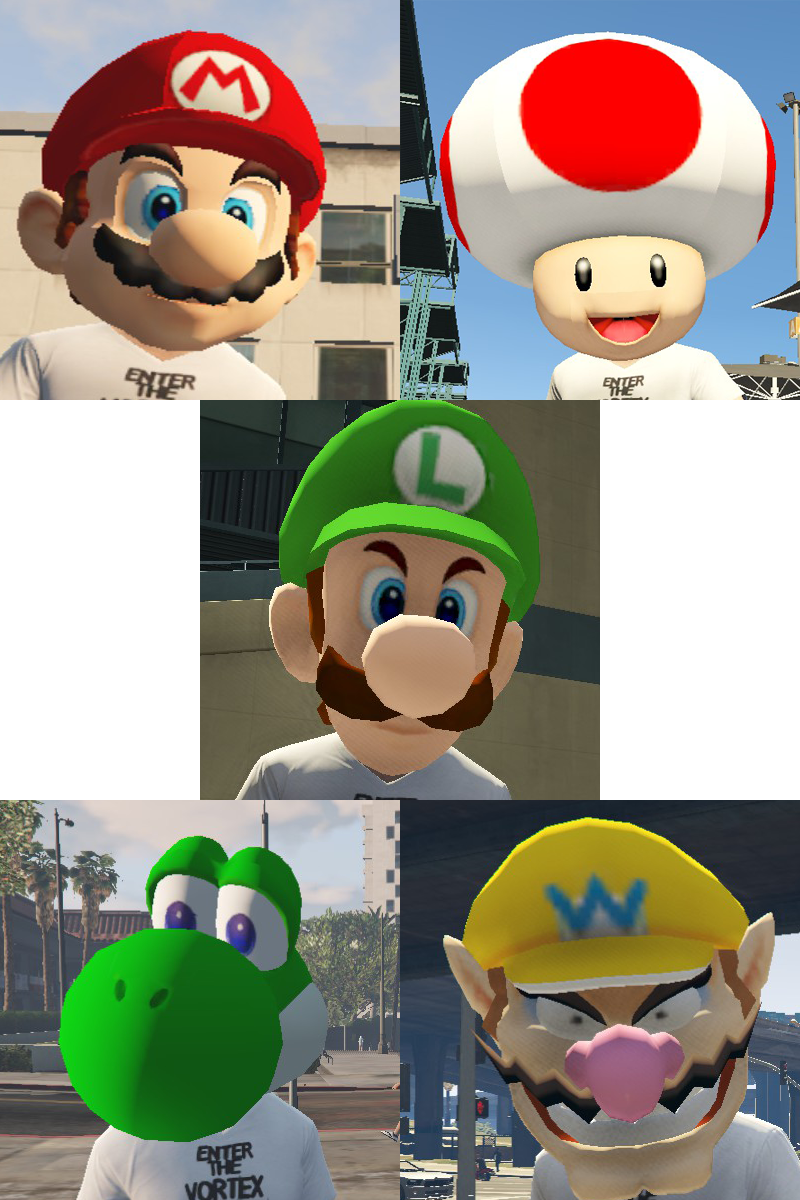 super mario masks gta5 mods com