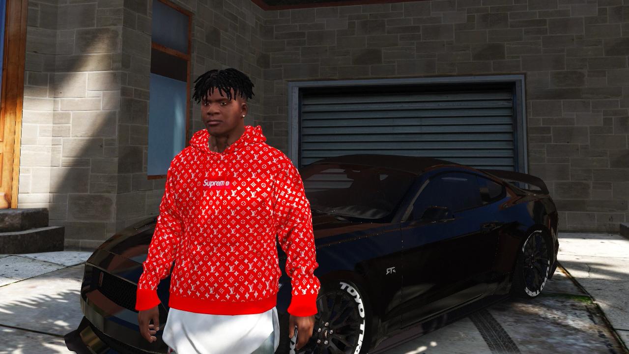 Supreme X Louis Vuitton Hoodie - GTA5-Mods com