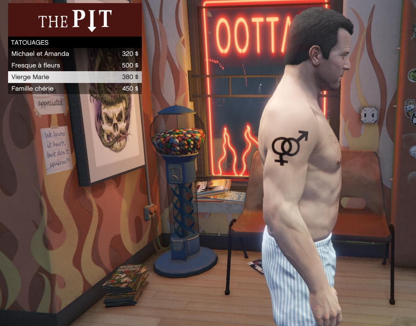 symbole homme femme for michael gta5 mods