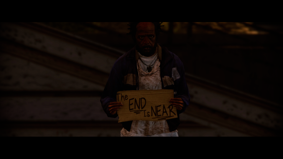 the end is near homeless sign gta5 mods com