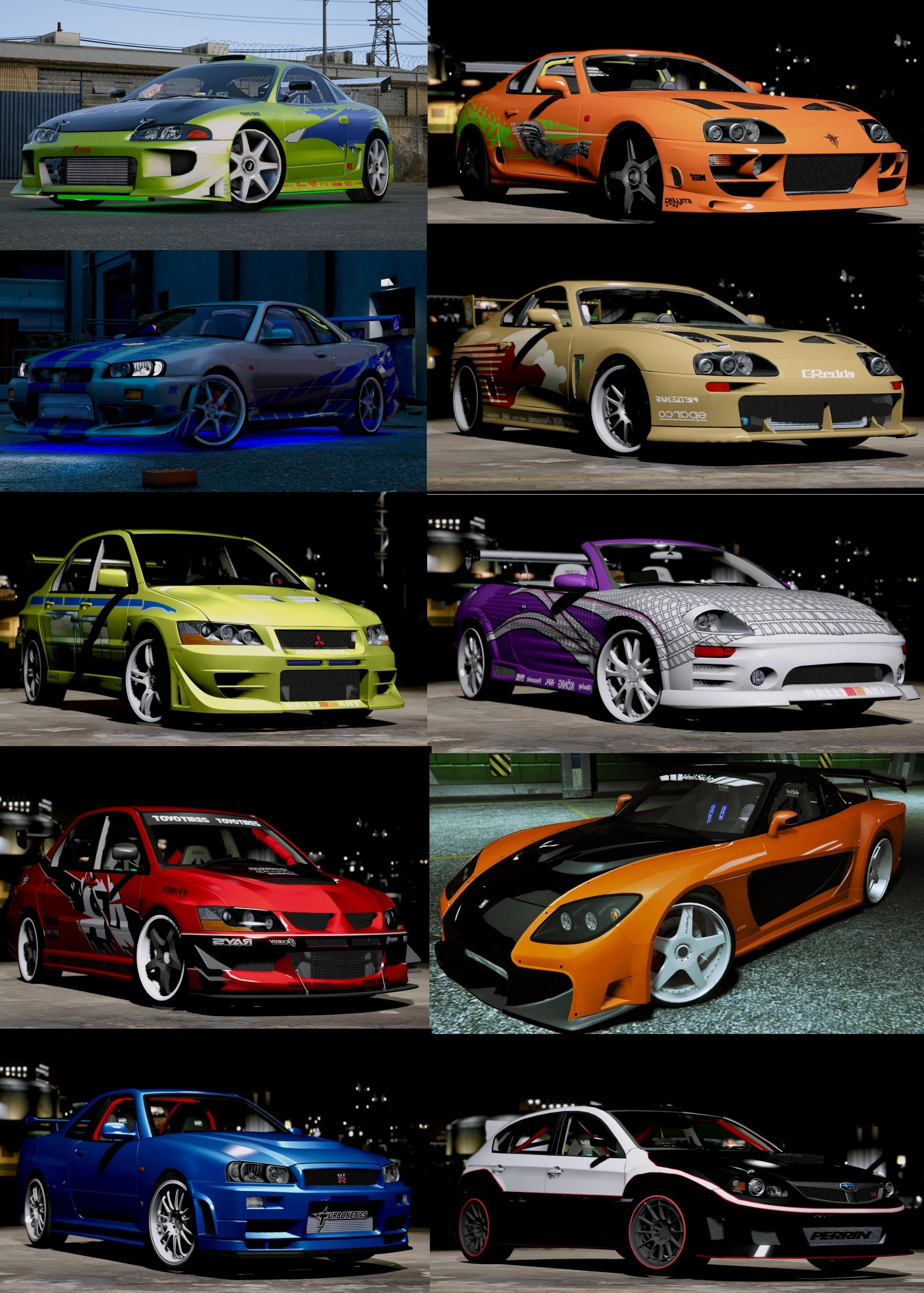 The Fast and the Furious Cars Pack [HQ-Add-On-Animated ...Gta 5 Fast And Furious Cars Skyline