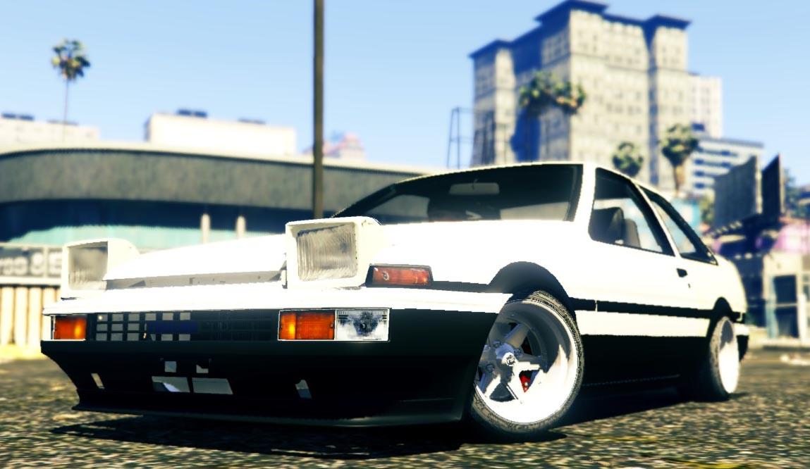 Toyota ae86 coupe tuning gta5 for Toyota 86 exterior mods