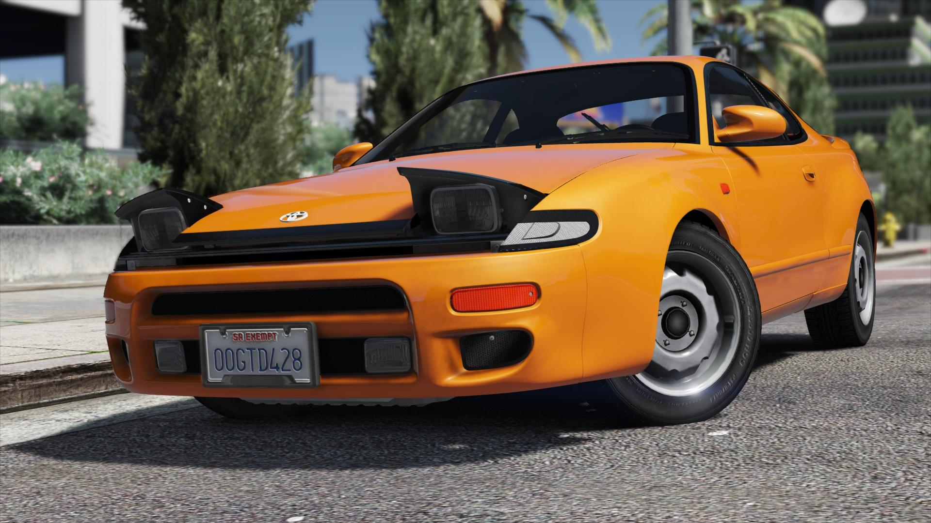 Toyota Celica Add On Template Popup Lights Without Script Gta5 Mods Com