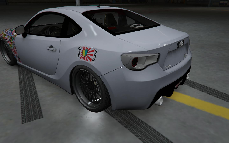 Toyota gt 86 jdm style paintjob hd gta5 for Toyota 86 exterior mods