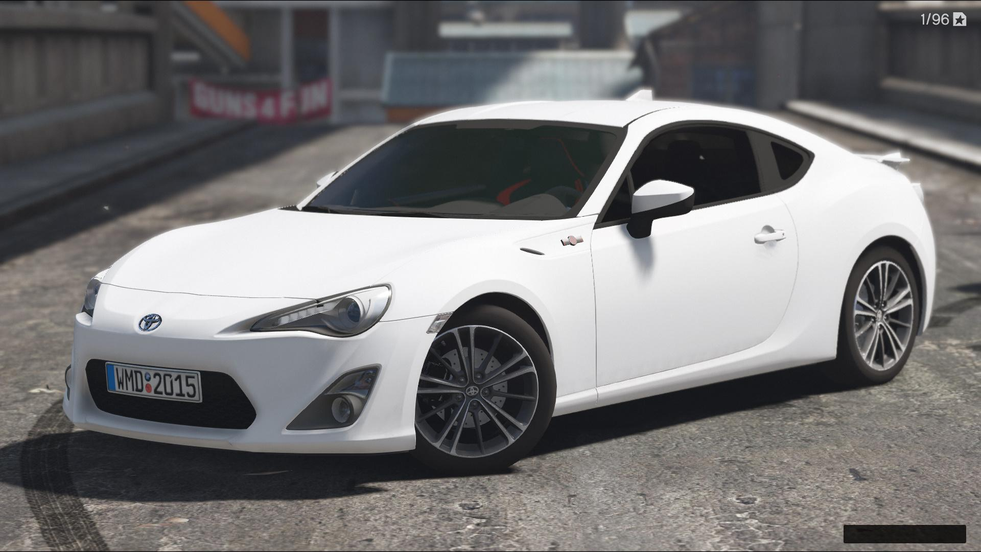 toyota gt86 add on replace tunable hq gta5. Black Bedroom Furniture Sets. Home Design Ideas