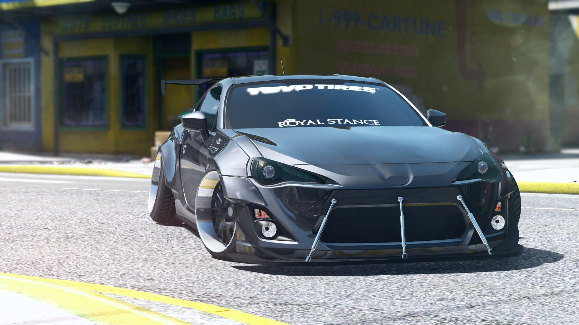 Toyota gt86 rocketbunny add on replace gta5 for Toyota 86 exterior mods