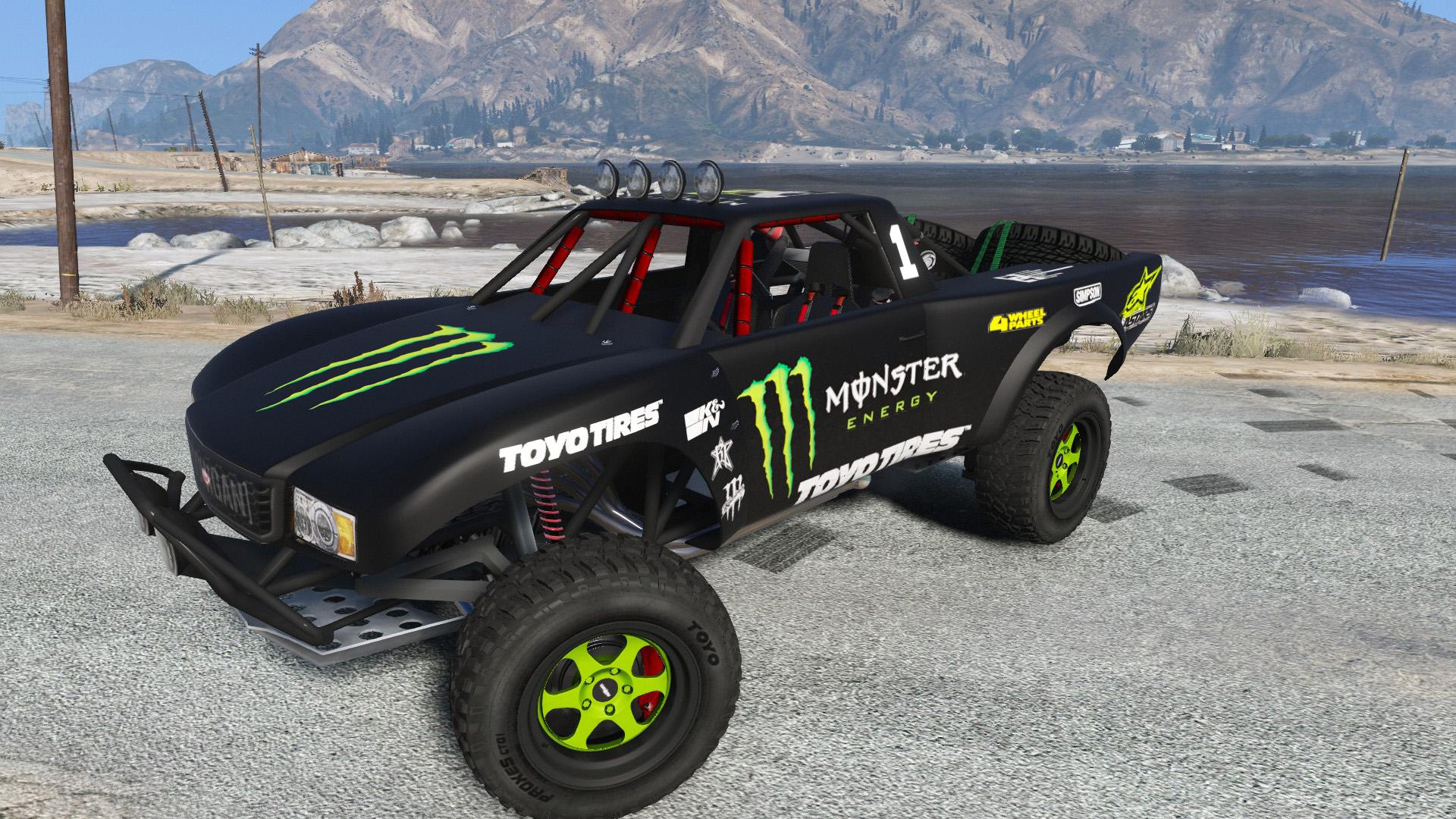 Trophy Truck Monster Energy Livery Any Color Gta5 Mods Com