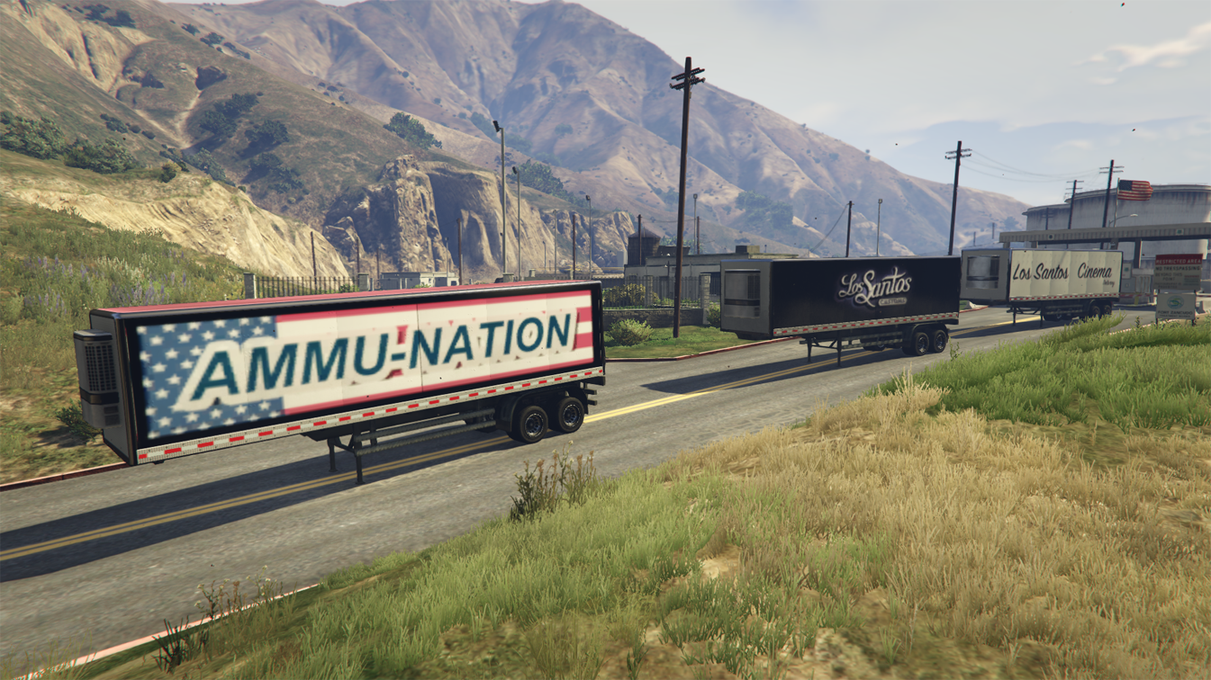 truck trailers los santos companies with custom trucking missions gta5. Black Bedroom Furniture Sets. Home Design Ideas