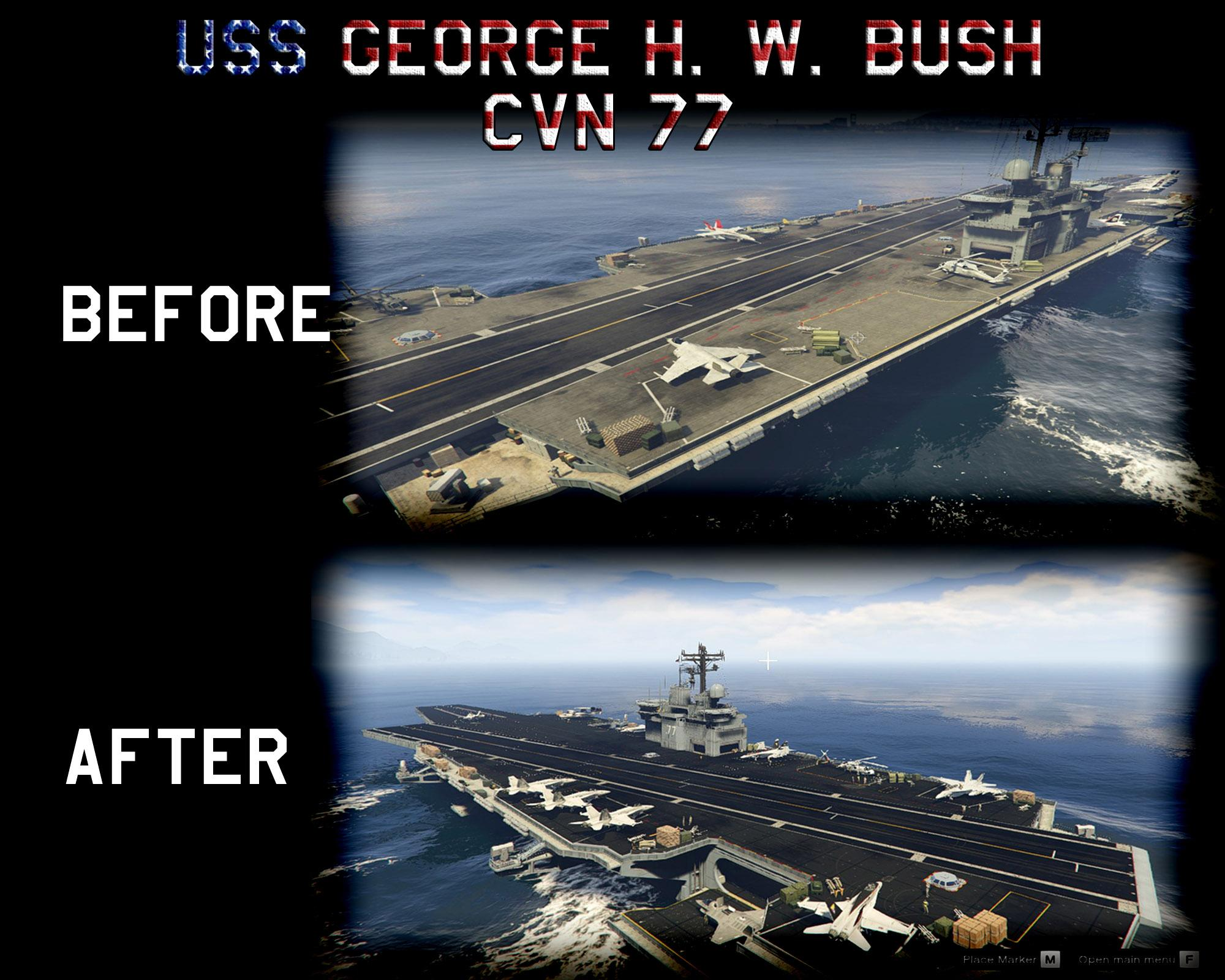 Uss George H W Bush Cvn 77 Skin Pack Gta5 Mods Com