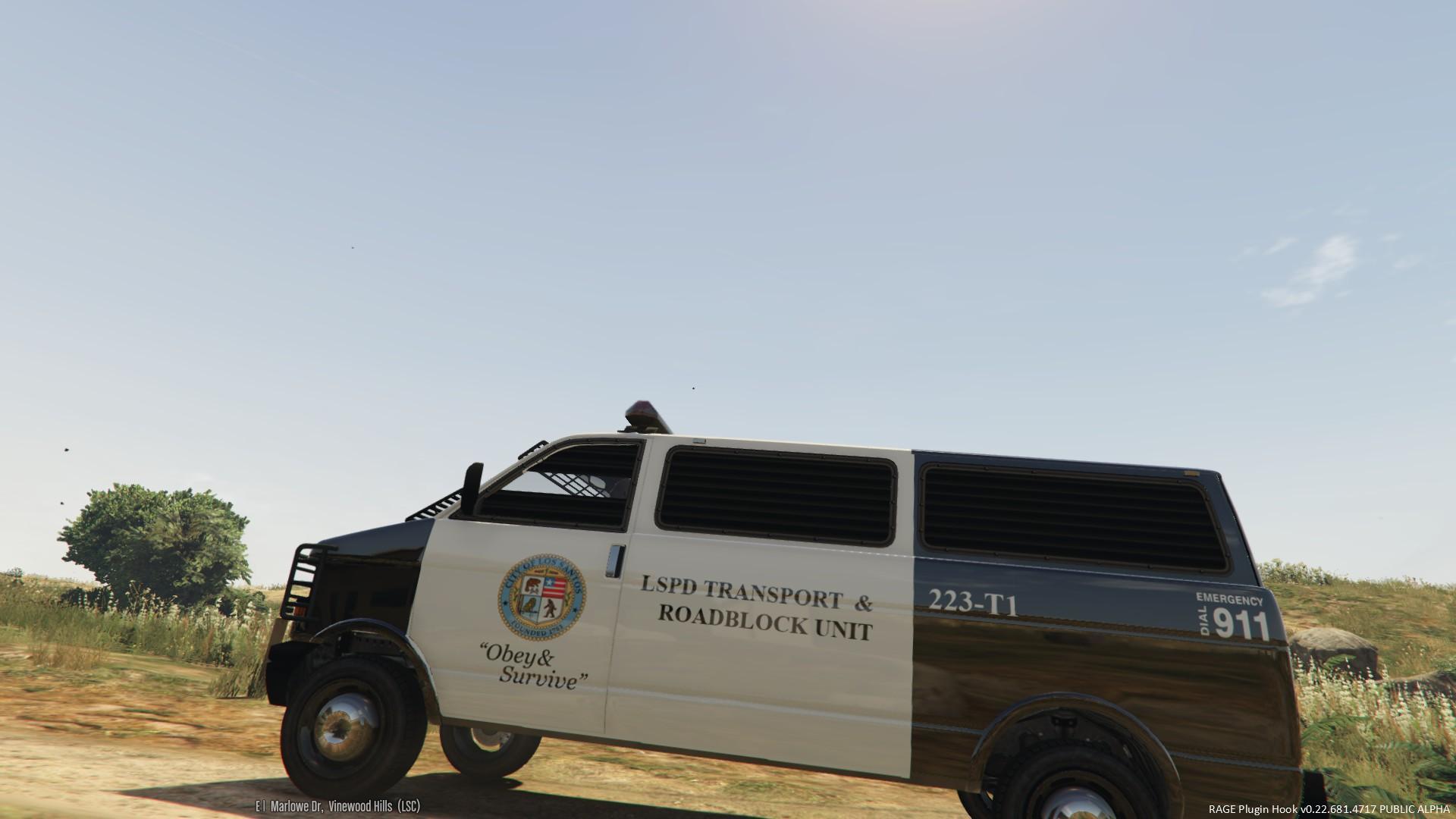 Uv Mapped Police Transport Van Gta5 Mods Com