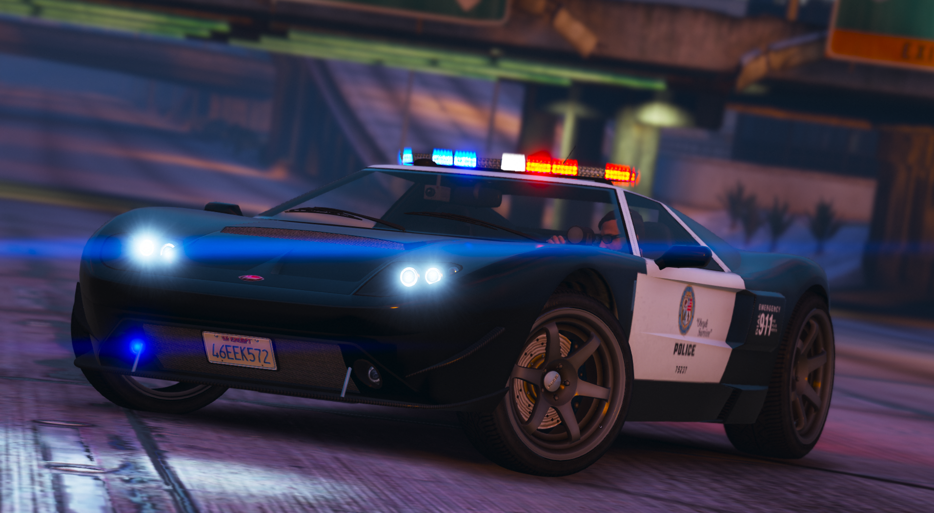 06 Vapid Bullet GT (Police Pack) [Add-On | Liveries | Template