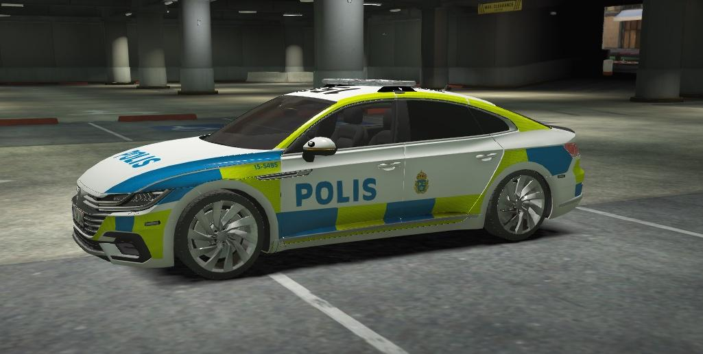 volkswagen arteon swedish police gta5. Black Bedroom Furniture Sets. Home Design Ideas