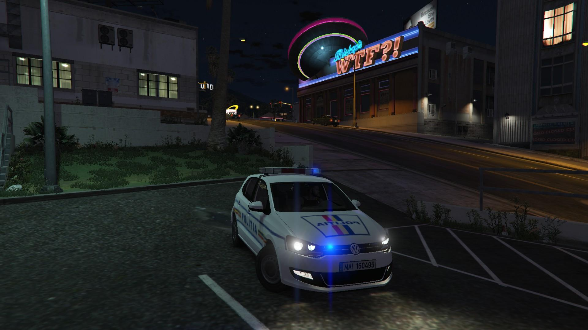 volkswagen polo mk5 politia romana romanian police gta5. Black Bedroom Furniture Sets. Home Design Ideas