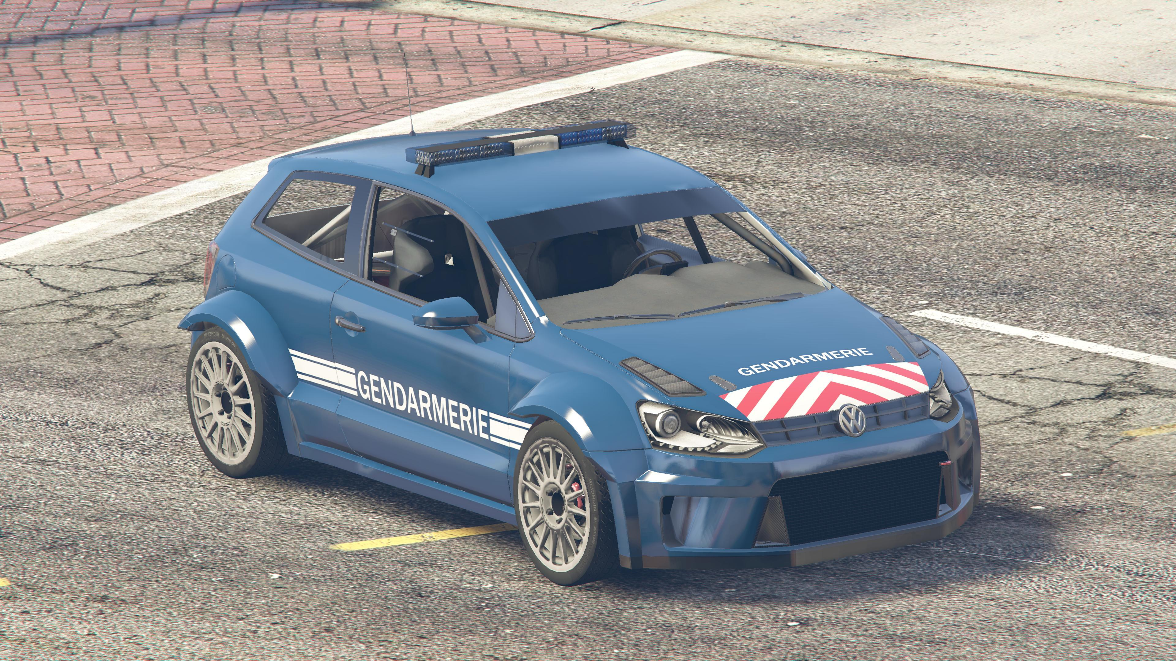 volkswagen polo r gendarmerie gta5. Black Bedroom Furniture Sets. Home Design Ideas