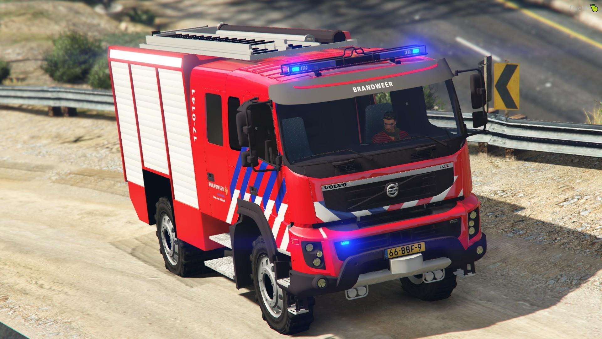 Volvo FMX330 2012 Dutch Brandweer [Replace|ELS] - GTA5 ...