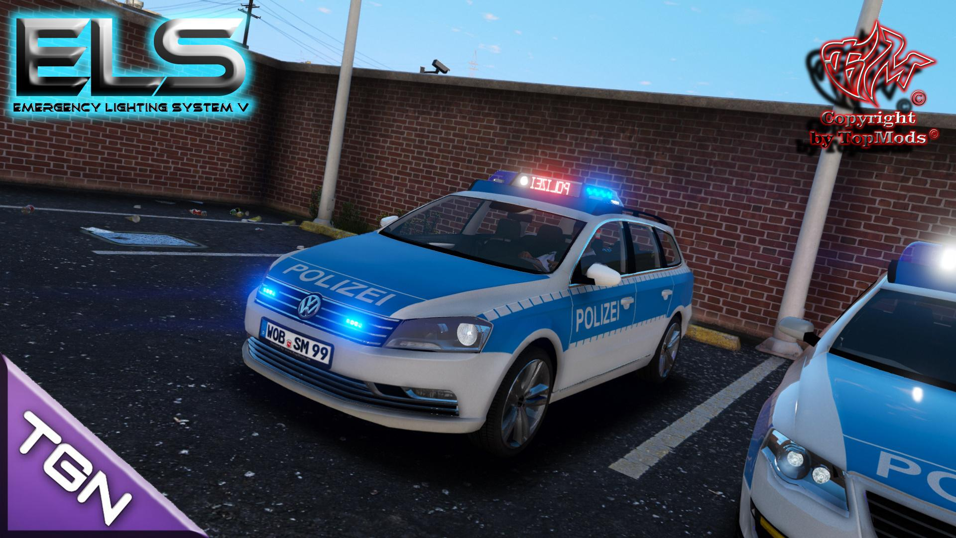 volkswagen passat b7 polizei wolfsburg els gta5. Black Bedroom Furniture Sets. Home Design Ideas