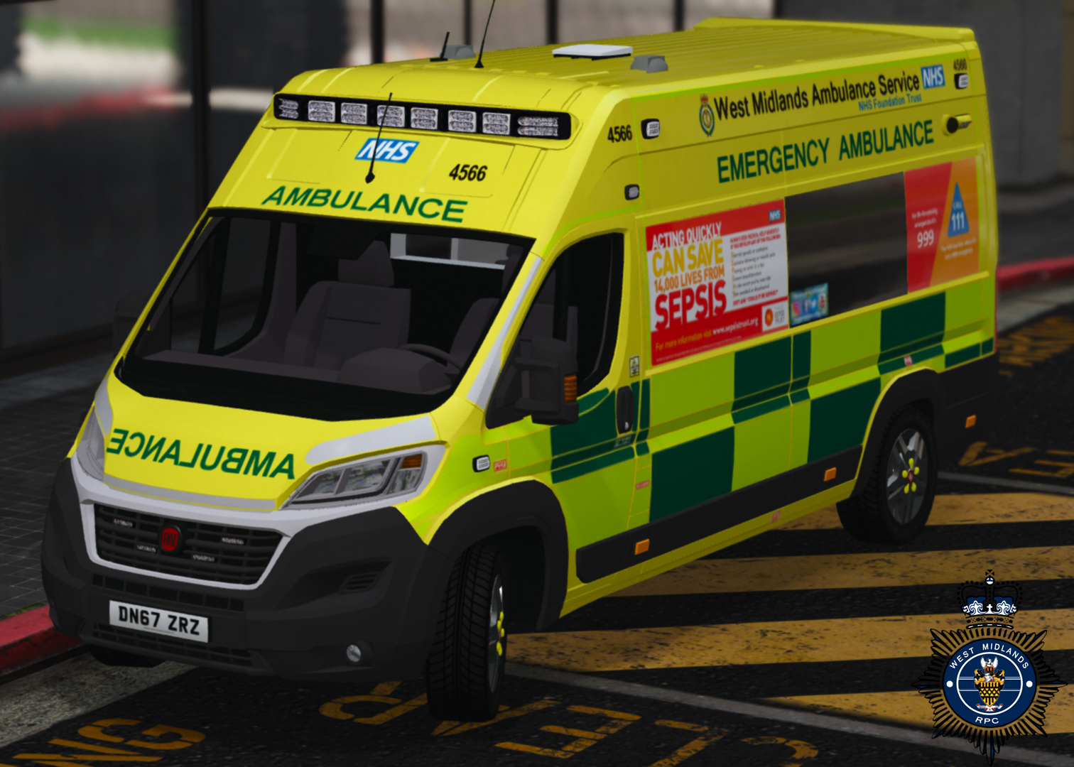 West Midlands Ambulance - Fiat Ducato 2018 Spec - GTA5-Mods com