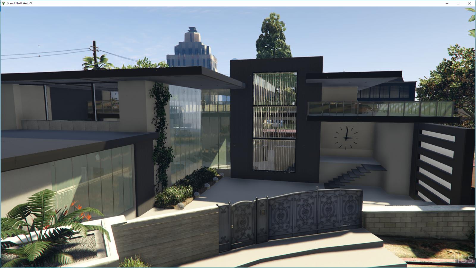 west vinewood modern house gta5. Black Bedroom Furniture Sets. Home Design Ideas