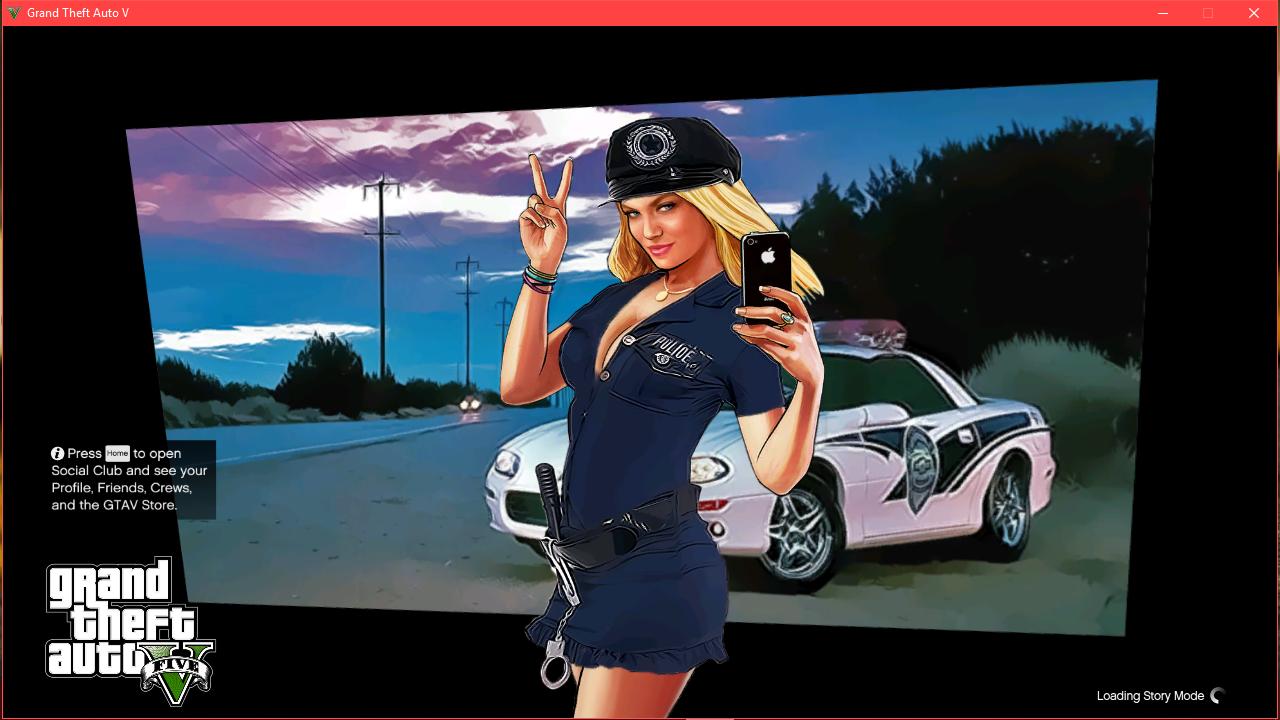 Woman Cop Startup Loading Screen - GTA5-Mods.com