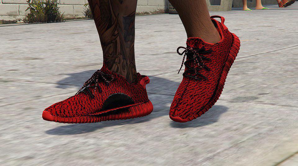Yeezy Boost 350 Re Texture Pb Moonrock Custom Red