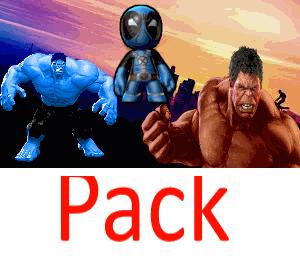 Yellow Hulk Blue Hulk Demon Pool Purple Hulk Pack  Wow Retextured Read Description Gta Mods Com