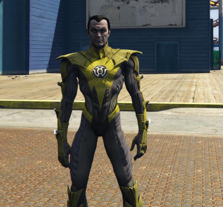yellow lantern sinestro injustice gta5 mods com
