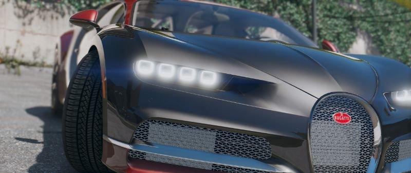 2017 bugatti chiron retextured add on replace auto spoiler hq gta5. Black Bedroom Furniture Sets. Home Design Ideas