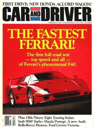 B7aae7 car and driver magazine 1991 february