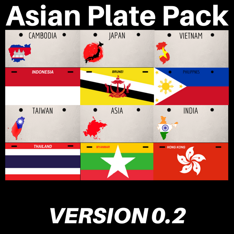 E76c38 asian plate pack
