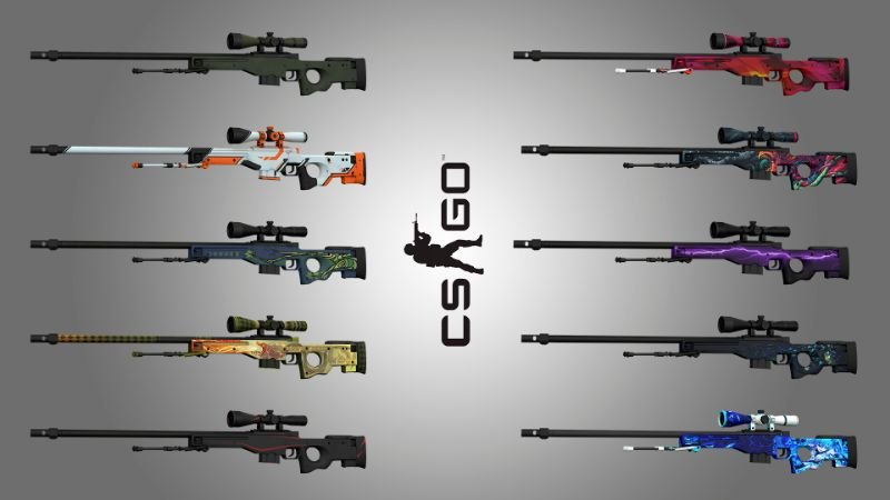 Awp from cs go animated 9 textures gta5 - Awp asiimov css ...