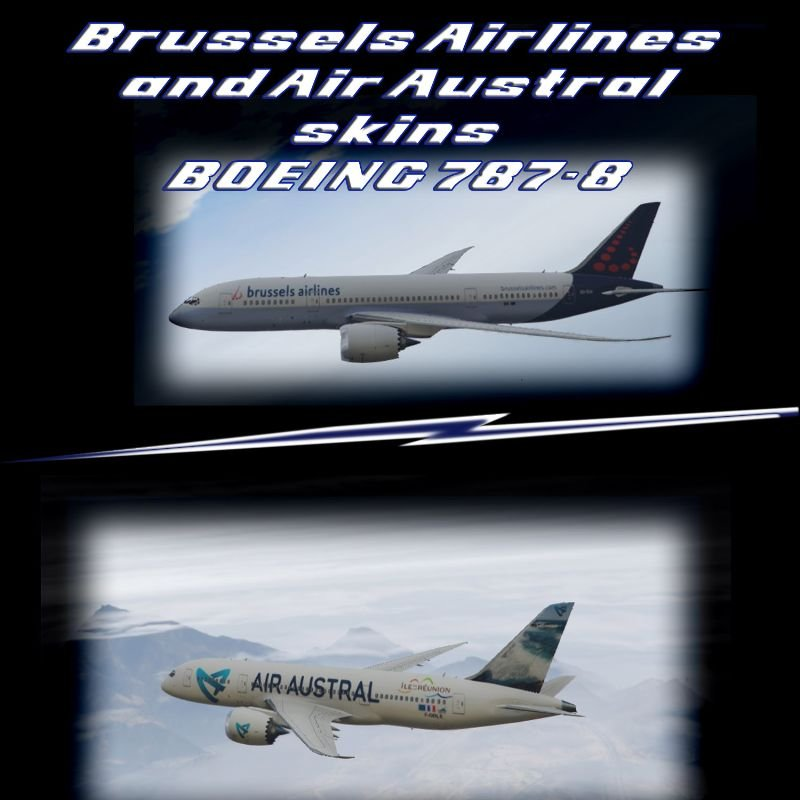B60f3e boeing 787 8 brussels airlines and air austral
