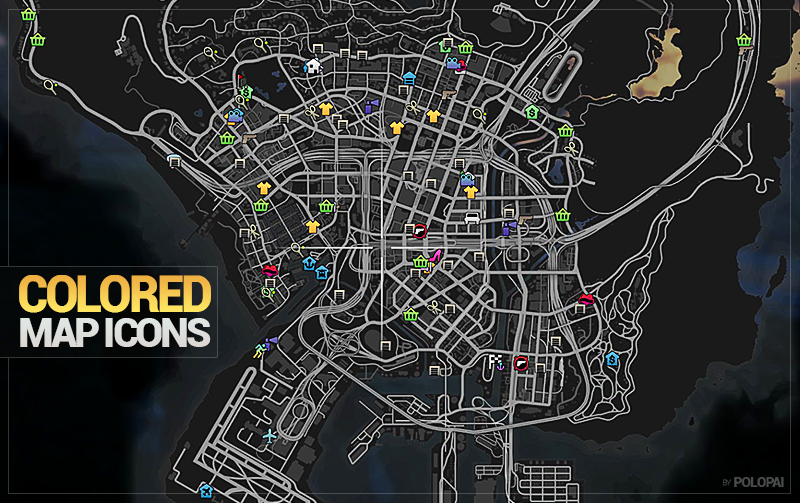 Stats further Colored Mini Map Icons besides Colored Map Blips besides Gta V Store Locations also 2014 02 01 archive. on gta san andreas minimap icons