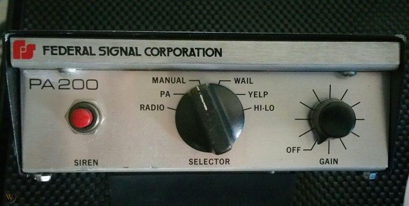 8463cd federal signal pa200 vintage siren 1 03e16cbc9d0112e8a1dddbc558d15a96