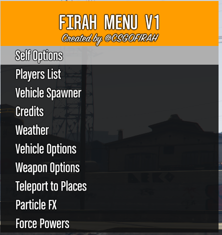 Firah Menu - GTA5-Mods com