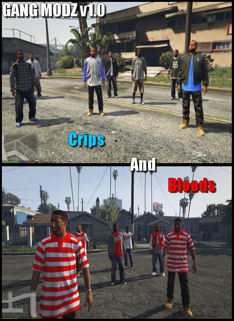 Gang Modz Bloods And Crips Gta5 Mods Com
