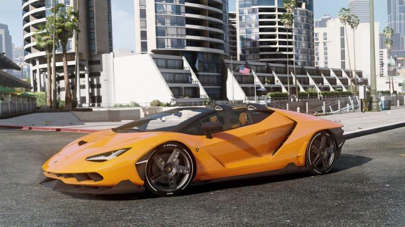 مد های بازی Gta V برای Pc دانلود ماشین 2017 Lamborghini