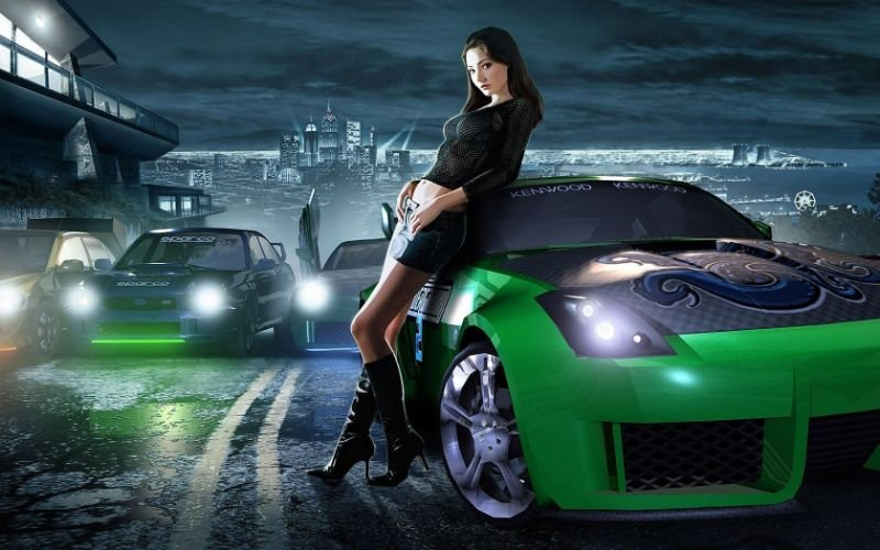 D2e54f nfs need for speed girl car city road 16164 1680x1050