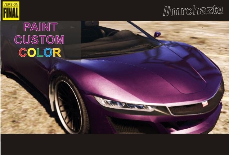 custom car paint colors Paint Your Custom Color   GTA5 Mods.com custom car paint colors